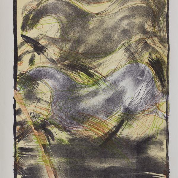 Çatlayan Taş 1987 70x50cm Litografi